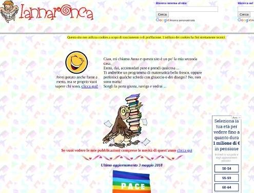 Homepage della Maestra Anna Ronca