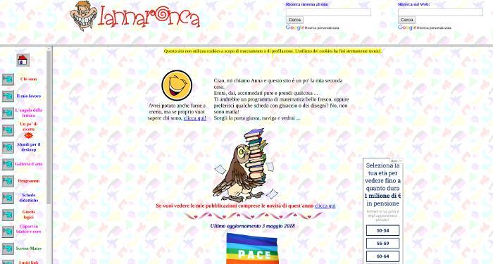 Home page della Maestra Anna Ronca