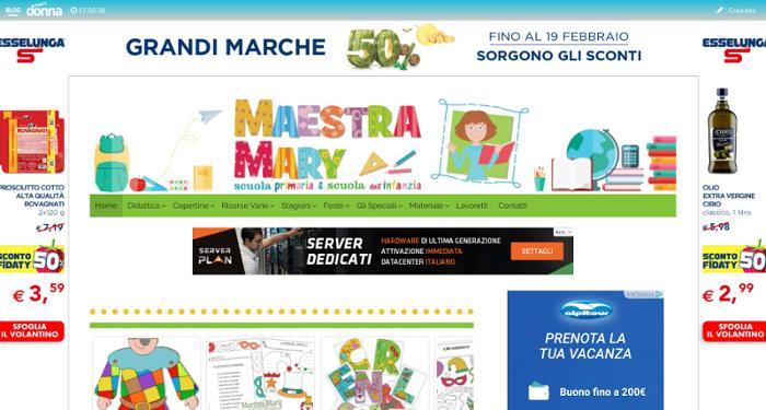Home page della Maestra Mary.