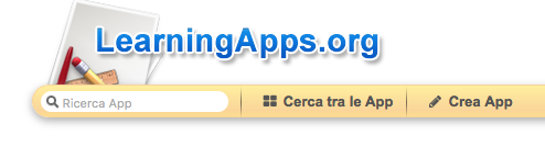 Screenshot di una parte del sito Learningapps.org