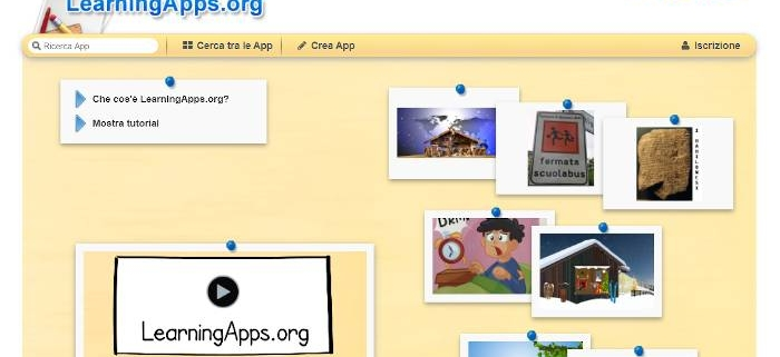 Screenshot home page sito Learningapps.org