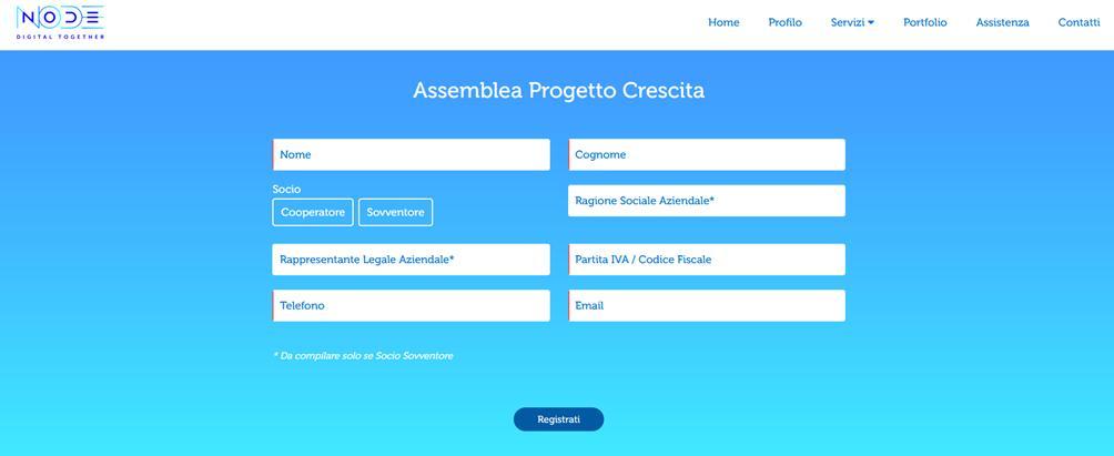 Screenshot pagina web di login della piattaforma di videoconferenze del SolCo Ravenna.